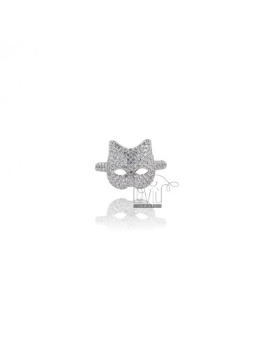 RING FACE CAT IN SILVER...