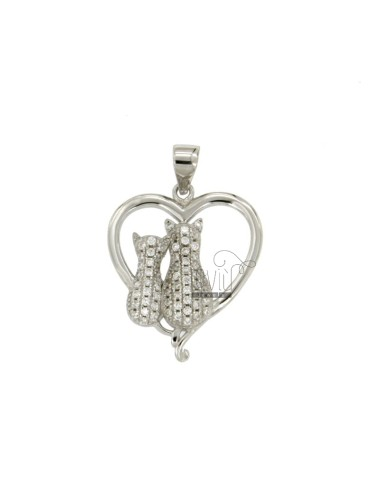 PENDANT CATS IN THE HEART...