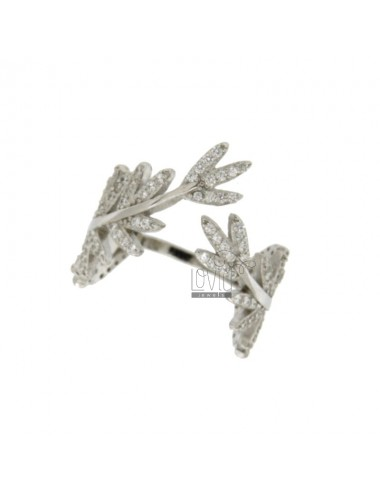 LAUREL RING WITH ZIRCONIA...