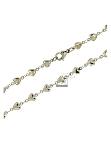 Hearts chain mm 4 steel cm 45
