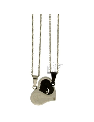 Pendant heart divided with...