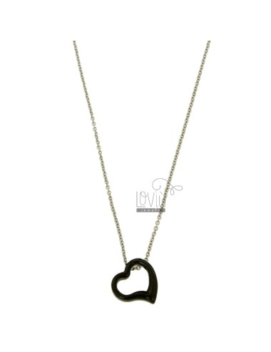 Pendant heart in black...