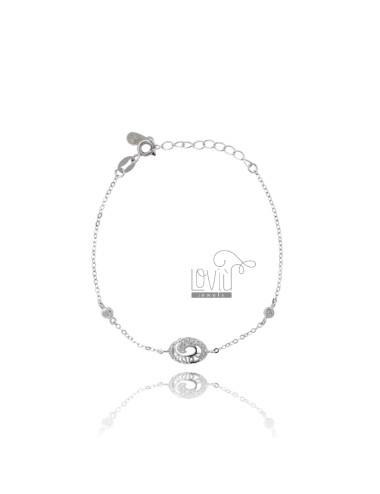 CABLE Armband mit OVAL...