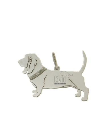 20x27 bassett perro charm mm.