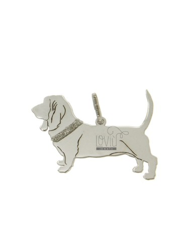 BASSETT HOUND DOG CHARM MM...