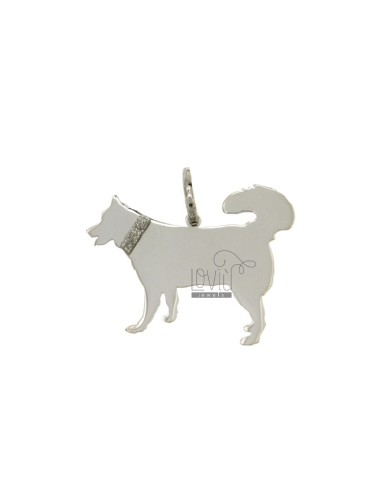 PENDANT DOG HUSKY 20x23 MM...