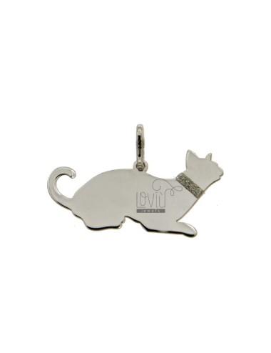 PENDANT CAT MM 14x28 Silber...