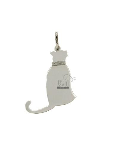 PENDANT CAT MM 27x21 SILVER...