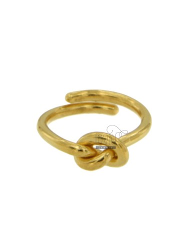 TIT 925 GOLD PLATED SILVER KNOT RING REG ADJUSTABLE SIZE