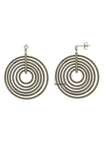 EARRINGS CONCENTRIC CIRCLES...