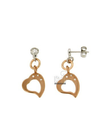 EARRINGS HEART MM 31X14...