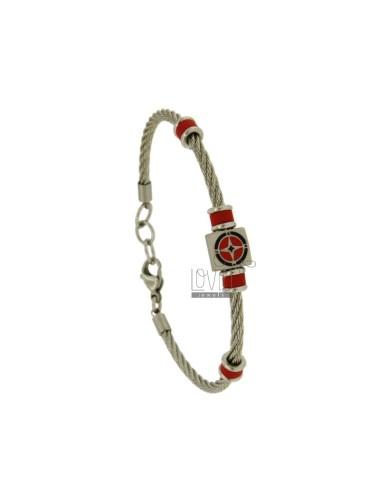 3 mm steel rope bracelet...