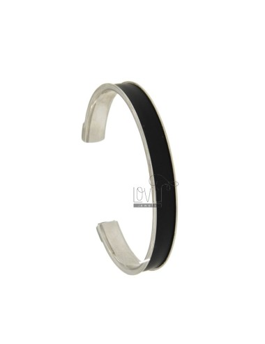 BANGLE 10MM SILVER RHODIUM TIT 925 ‰ WITH RUBBER &39