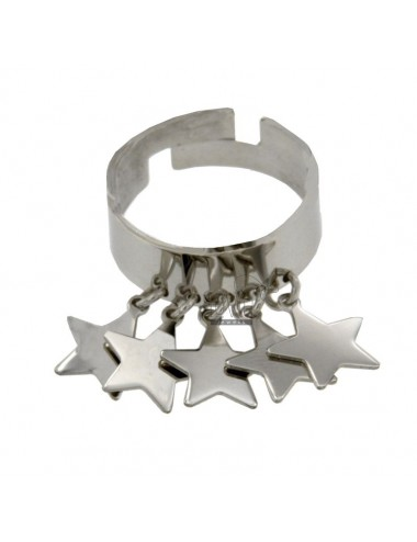 7 MM BAND RING MIT STARS IN...