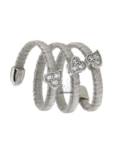 Serpent ring with ring tape...