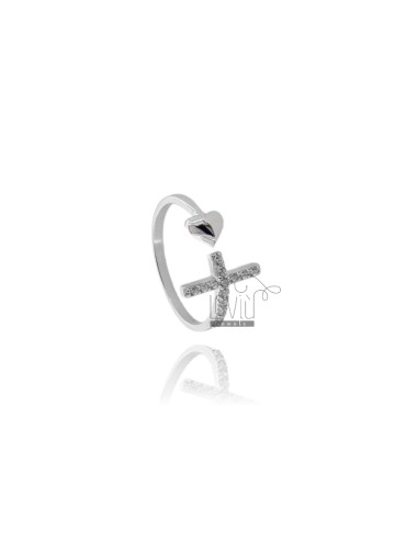 Ring with cross and heart...