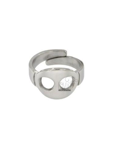 RING WITH SILVER RODIATED NITROOM TIT 925 ‰ ADJUSTABLE MEASURE