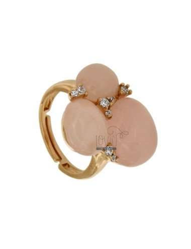 Ring with three rose...