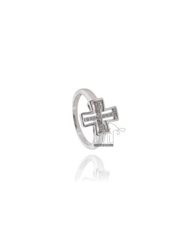 Anello croce in argento...