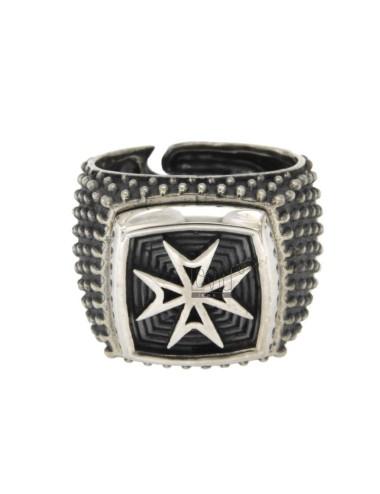 Square anillo con cruz de...