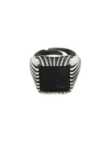 SQUARE RING 17x17 MM SILBER...