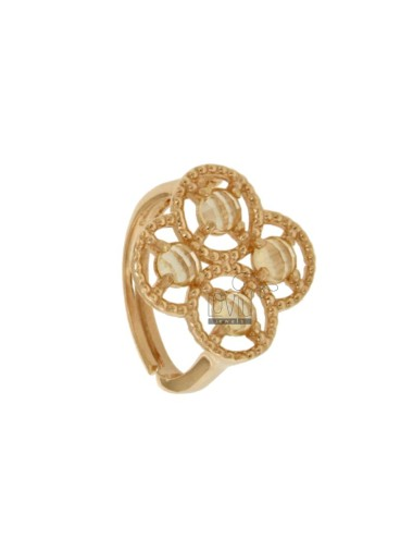 ADJUSTABLE RING WITH FLOWER...