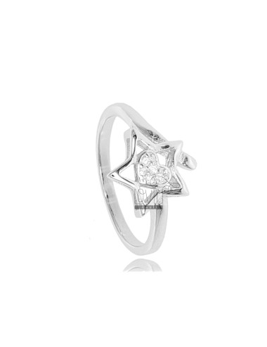 STAR RING WITH HEART IN...