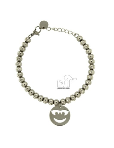 BRACELET BALL 6 MM STEEL...