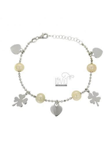 Armband mit Perlen und...