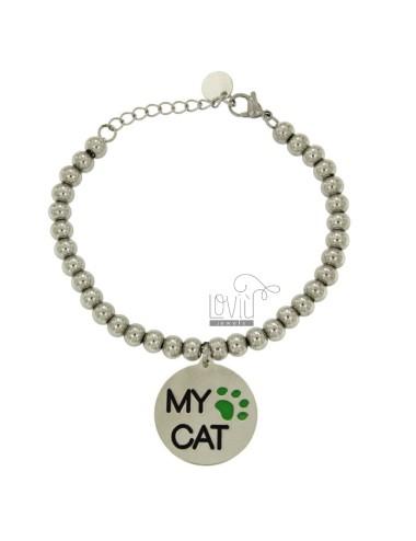 Bracelet with balls mm 6...