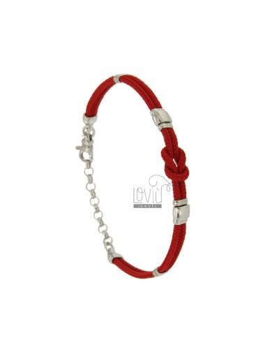 CUERDA brazalete rojo con...