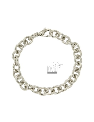 BRACELET 220 FULL CABLE 20 CM IN RHODIUM SILVER TITLE 925 ‰
