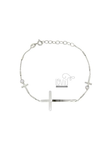 CABLE Armband mit CROSSES...