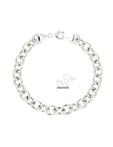 BRACELET CABLE MM 10X8 ROD 2 MM 20 CM IN SILVER TITLE 925 ‰