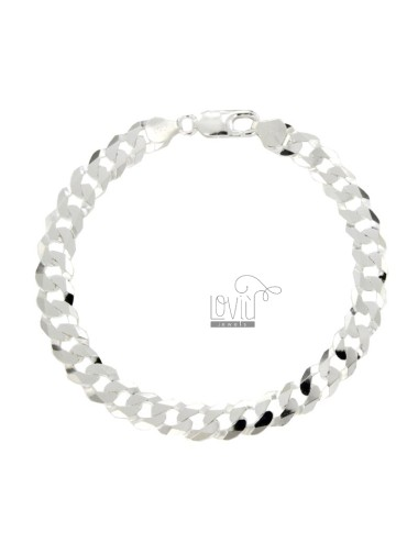 Curb BRACELET EXTRA FLAT 8 MM 23 CM IN SILVER 925 ‰