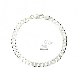 Curb BRACELET EXTRA SLIM FLAT 6 MM 20.5 CM IN SILVER 925 ‰