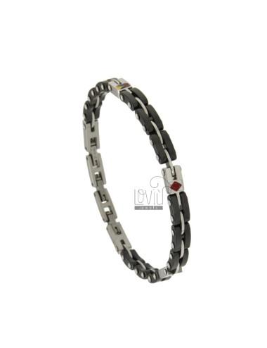 Bracelet steel two tone