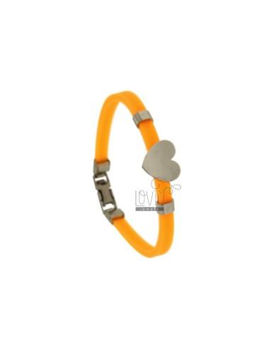 Bracelet in orange coat and...