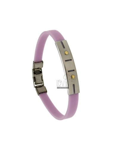 Lilac rubber bracelet with...