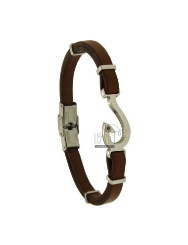 Bracelet in leather with...