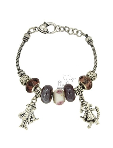 Bracelet with metal boule...