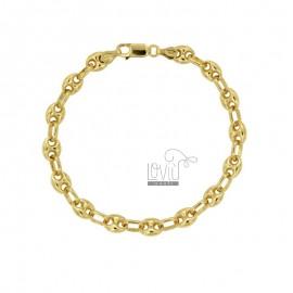 BRACELET SWEATSHIRT BRACKET MM 8X6 IN SILVER PLATED GOLD TIT 925 ‰ MEASURE 19