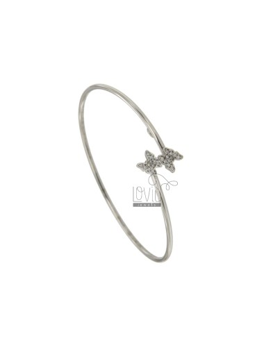 TONDA MM 2 CONCRETE BRACELET WITH 2 SILVER CENTRAL BUTTONS REDUCED TIT 925 AND ZIRCONI
