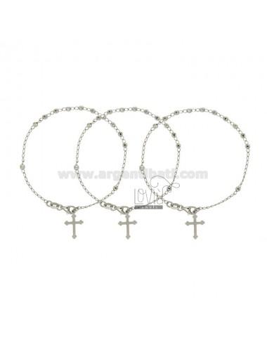 Pulsera rosario con bola...