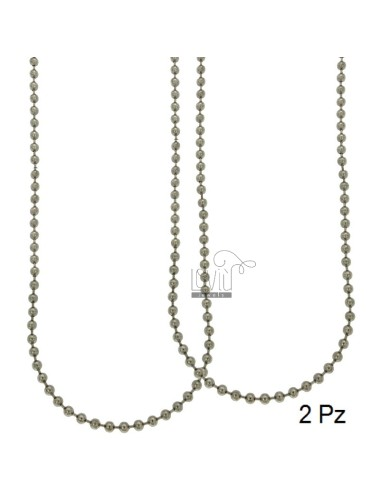 CHAIN MILITARY BALL 3.5 MM 2 PZ CM 60 STEEL