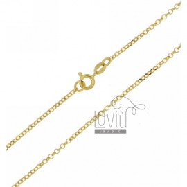 ROLO 'DIAMOND CHAIN MM 2 CM 40 IN SILVER GOLD PLATED 925 ‰