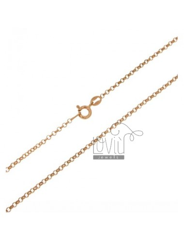 ROLO CHAIN 2 MM ROSE GOLD PLATED 70 CM IN AG TIT 925 ‰