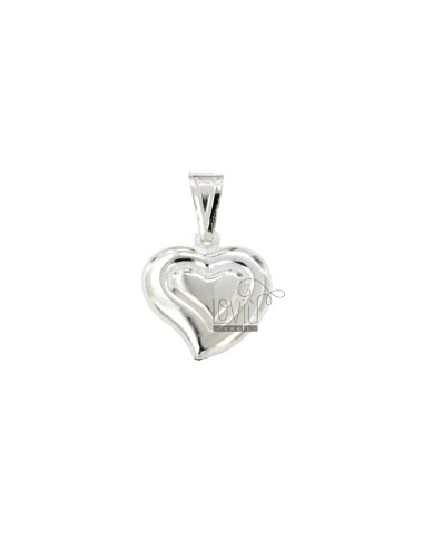 Heart charm coupled mm16x14...