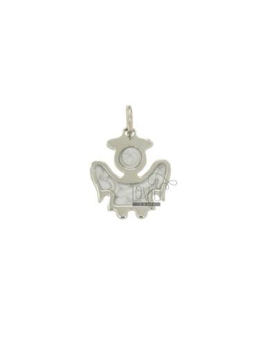 Charm angel mm 18x15 silver...