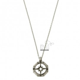 OTTAGONAL PENCIL WITH STAINLESS STEEL CM 45-50 FORZATINA CHAIN